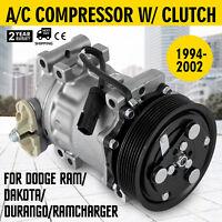AC Compressor For Dodge Dakota Ram Durango 3.9 5.2 5.9 8.0L 1994-2002 4785C