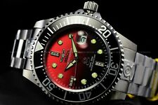 Invicta 47mm LE Grand Diver Auto Black Red Gradient Diamond Acent xxx/400 Watch