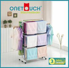 ONETOUCH Wäscheständer® Turmwäscheständer 3 Ebenen Edelstahl weiß Wäschetrockner