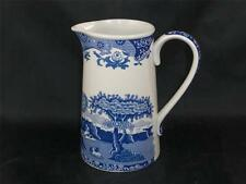 """Spode Blue Italian 1 pint water jug/pitcher 5.75"""" - Made In England        s1153"""