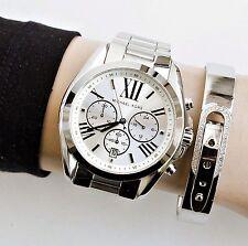 Original Michael Kors Uhr Damenuhr MK5535 BRADSHAW XL Farbe:Silber NEU