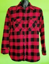Vintage 1950s BRENT MONTGOMERY WARD - Red & Black Buffalo Plaid Wool Shirt - sz