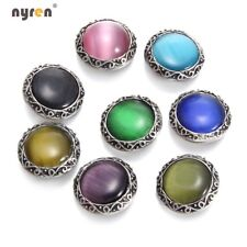 8pcs 18mm Snap Button Opal Stone Charms Multi Color For 20mm Snap Jewelry 1193b