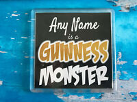 Guinness Monster Personalised Coaster  - Drink Coaster - Add Name - Beer Mat