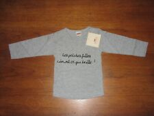 3 Pommes NWT Baby Girl 6M (Euro 67 cm) Long-sleeved Knit Shirt French Boutique