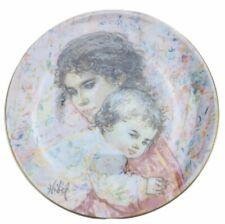 Edna Hibel Marilyn & Child Collector Plate Royal Doulton 1976