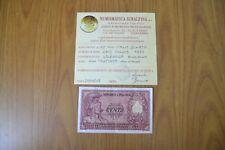 BANCONOTA LIRE 100 ITALIA ELMATA 1951 DI CRISTINA NC certificata SPL SUBALPINA