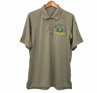 511 Tactical Sz L Men's Polo Shirt Khaki FBI National Academy Tampa Chapter 2014