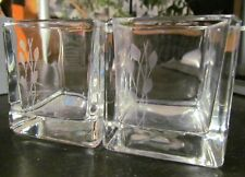 Partylite P9483 Fresh Home 2-pc Votive Holders with Etched Glass - New In Box