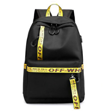 Off White Inspired Bag Student Backpack