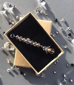 Crystal Angel Hanging Ornament Gift Box & card November Birthday Birthstone