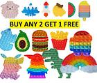 1 pc Game Push It Pop Bubble Fidget Squeeze Autism Sensory Silicone Toy Stress