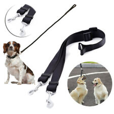 New listing Double Ended Dog Lead For Twin 2 Dogs 2 Way Coupler Leash Reflect Walking Black#