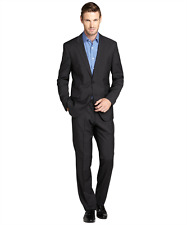NEW $995 Hugo Boss Grand Central Slim Fit Black Super 100 Wool Suit 40L W32 USA