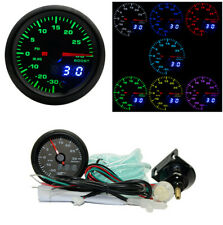 52mm Digital 7 Colors LED Car Auto Turbo Boost Gauge PSI Meter W/Sensor &