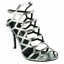 Scarpe da donna stiletti argento con fibbia