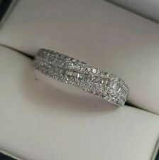 Lovely 9 carat gold 9ct White Gold Diamond Ring 0.50ct Hmkd 3g Size N Valuation