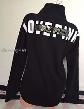 Victoria's Secret Pink Black White Gold High Neck Pullover Sweater - Small *NWT