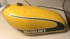 Original 1974 Suzuki Tm 100-125 Gas Tank Dirt Bike Good Decals Rare Classic.