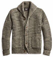 RRL Ralph Lauren Vintage Inspired Cotton Wool Shawl Cardigan-MEN- L