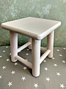 Kids Childrens Childs Wooden Stool Chair pink