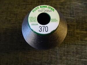 Fujix King Star best quality Embroidery thread 1x 5000m spools ( Dark Grey ) 370