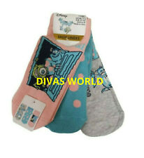Cookie Monster Shoe Liner Women Printed Socks Pack Of 3 Brand New PRIMARK