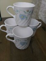 """4 Corelle Delicate Touch Mugs/Cups 3 1/2""""   USA EXCELLENT"""