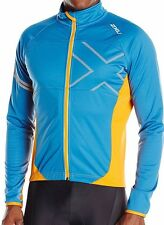2XU Men's Wind Break 180 Cycle Jacket XL Cerulean Blue/Tangerine X-Large NWT