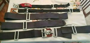 Simpson & Crow Latching  5-Point Harness System Parts / Used / Incomplete Sets