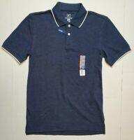 Men's George No Roll Collar Stretch Pique Polo Shirt Golf XS S M 3XLT 3XL Navy
