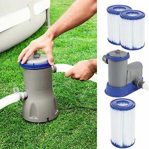 Bestway Pool Filter Pump & Cartridge Electric Flowclear 330/530/800/1500 Gal