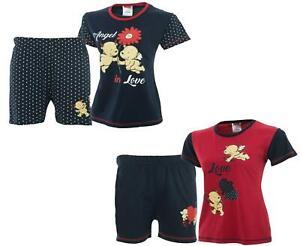 Ladies Womens Pyjamas pjs Set Top Shorts Nightwear LoungeWear Pyjamas