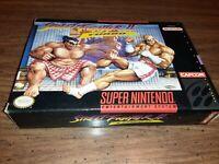 Street Fighter II 2 turbo (SNES) Super Nintendo *complete in box*