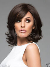 100% Real Hair! Sexy Women Short Natural Straight Dark Brown Hair Wig