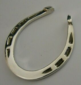 ENGLISH SOLID STERLING SILVER LUCKY HORSE SHOE NAPKIN RING 1974 HUNTING