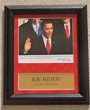 JOE BIDEN U.S. VICE PRESIDENT UNDER PRESIDENT OBAMA SIGNED PHOTO FRAMED COA