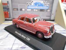 Mercedes Benz 180 w120 Limousine 1955 Ponton red rojo Minichamps 1:43