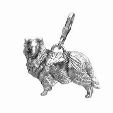 Sheltie Collie Sterling Silver Dog Charm