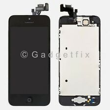 USA Black Touch Screen Digitizer LCD Screen Display Button + Camera for iPhone 5