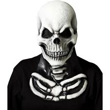 Adult Skull Skeleton W/ Bone Chest Piece Horror Mask Halloween Costume Accessory