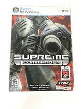 Supreme Commander: Forged Alliance - PC Computer Game NEW Sealed With Sleeve THQ