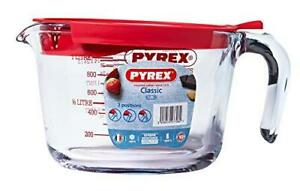 Pyrex Measuring Jug With Lid 1L Prep Ware Measure and Mix