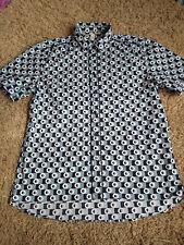 De Colección Marni at H&M Camisa de hombre diseño peculiar Círculo Cuadrado Talla M
