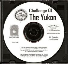 CHALLENGE OF THE YUKON - 409 Shows Old Time Radio In MP3 Format OTR On 4 CDs
