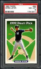 DEREK JETER~1993 TOPPS DRAFT PICK #98 GRADED PSA-8 NM/MT BASEBALL ROOKIE RC CARD