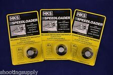 3 Pack HKS 36/36-A Speed Loader 38/357 Mag Fits S&W Taurus 36-A