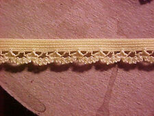 Elastic 3/8 Golden YELLOW Scalloped Lace Edge Dainty 38083 Lingerie Doll  5 yd