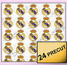 24 FC Real Madrid Precut Edible Wafer Rice Paper Cupcake Topper Football cake