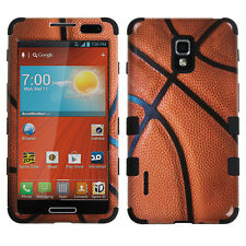 For LG Optimus F7 US780 IMPACT TUFF HYBRID Case Snap On Phone Cover Basket Ball